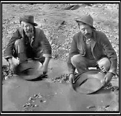 old times panning for gold